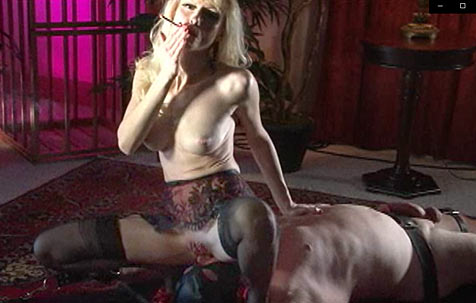 Ass licking and cigarette burning BDSM Movie