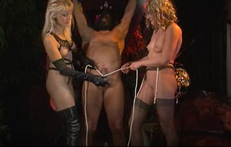 Cock and ball torment by girls 1 BDSM movie
